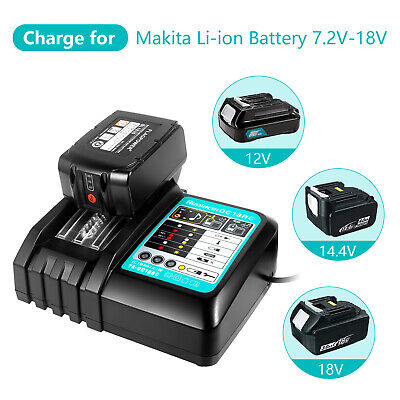 18V Rapid Charger for Makita BL1830 BL1840 BL1815 BL1850 LXT Lithium Ion Battery