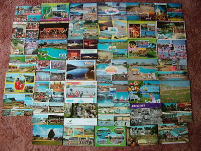 41 Postcards of HOLIDAY CAMPS.  1960's onwards. Used & Unused.