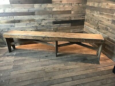 Outstanding Vintage Small Wood School Gym Bench 55 00 Picclick Uk Theyellowbook Wood Chair Design Ideas Theyellowbookinfo