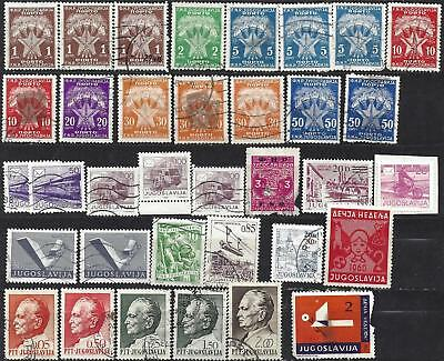 Lot of YUGOSLAVIA stamps   MOSTLY used some MINT