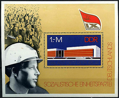 East Germany DDR 1976 SG#MSE1840, 9th Socialist Unity Party MNH M/S #D41887