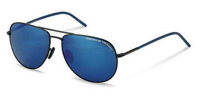 42612ad65d1c Porsche Design Eyewear Aviator Sunglasses Matte Black Blue Bi Mirror P8629 D