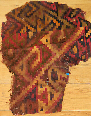 Very large and rather pretty Pre-Columbian woven textile fragment