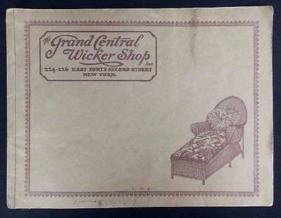 Vintage Catalog Grand Central Wicker Shop New York City Willow Reed Furniture
