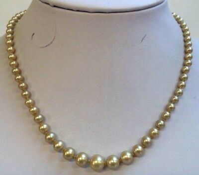 """Stunning Vintage Estate Faux Pearl Gold Tone 16 5/8"""" Necklace!!! 5032R"""