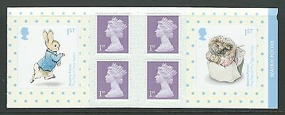 Great Britain 2016 Beatrix Potter Self Adhesive Booklet Unmounted Mint, Mnh