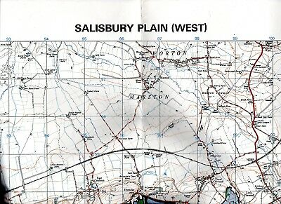 Salisbury Plain (West) UK Training Areas 1:25,000 coloured 1980 map GSGS 5294