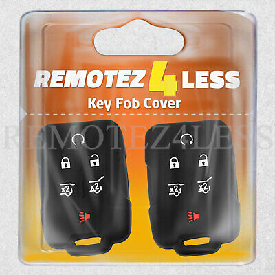 Key Fob Cover for 2015-2019 Chevrolet Colorado Remote Case Rubber Skin Jacket