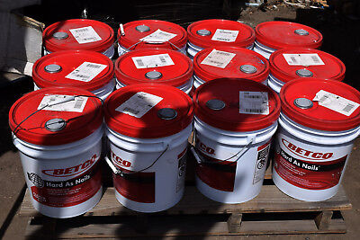 Qty ~ 12 NEW SEALED!  BETCO 5 Gallon Pails Hard as Nails 659 Gloss Floor Finish