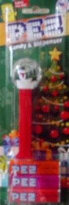 Snowman Snow Globe Pez Dispenser with candy collectible holiday season New