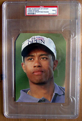 Tiger Woods ROOKIE Card - A Question of Sport 1997 - PSA 9 Mint