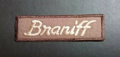"Braniff Airways Airlines Uniform Patch 4 3/8"" x 1 3/8"" Ultra Logo Circa 1976"