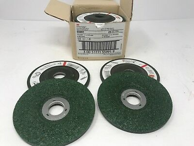 """3M 55991 Depressed Center Grinding Wheel 4 1/2"""" X 1/4 X 7/8"""" 24 GRIT (14 COUNT)"""