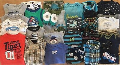 EUC Adorable Baby Boys Fall/Winter CLOTHES LOT Outfit Sets Newborn Lot # 1