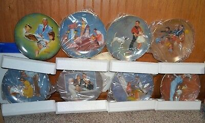 Lot of 12 Norman Rockwell Plates American Dreams II Complete Set COA 1980