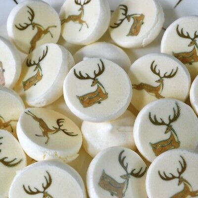EDIBLE Meringue Sugar Stamps Transfer Sheets Stag DEER from Wickstead's Eat Me
