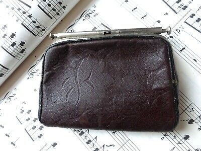 Antique Victorian Edwardian Small Leather Sovereign / Coin Purse