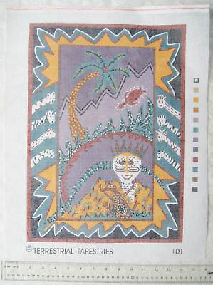Unused printed tapestry canvas Terrestrial No. 101