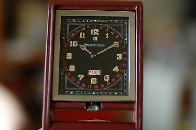 Jaeger Lecoultre Ados Baby1937 Mini Travel 8D Clock With Day Date & Power Charge