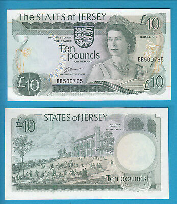 THE STATES OF JERSEY - 10 Pounds - 1976-88