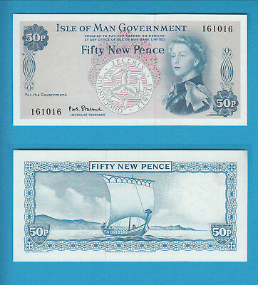 ISLE OF MAN Government - 50 New Pence - 1969