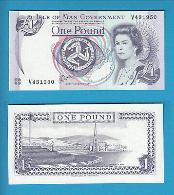 ISLE OF MAN Government -  1 Pound  -  1983
