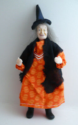 Dolls House Miniature Pumpkin Dress Witch 1-12TH Scale
