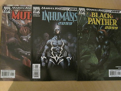 SET of 4 x 2099 ONE - SHOTS by KIRKMAN : PUNISHER,INHUMANS,PANTHER +.MARVEL.2004