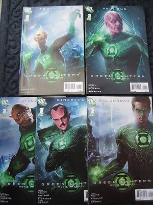 GREEN LANTERN the MOVIE - SET OF 5 PREQUELS by JOHNS,TOMASI,GLEASON etc. DC.2011