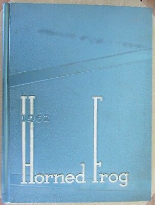 Vintage 1962 TCU TEXAS CHRISTIAN UNIVERSITY HORNED FROG YEARBOOK Fort Worth TX