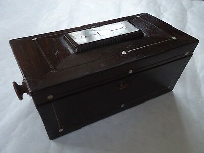 Antique Wooden Tea Caddy. Spares Or Repair