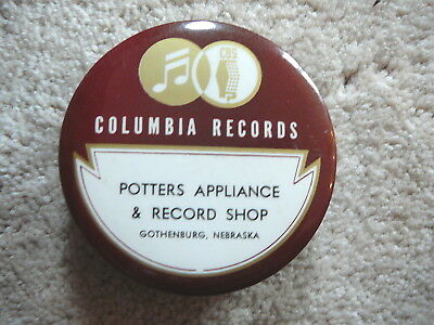 GOTHENBURG NE - COLUMBIA RECORDS - Antique CELLULOID ADVERTISING RECORD CLEANER