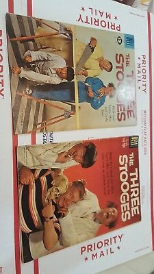 Three Stooges 1170 1127 Dell Vintage Comic Book Lot