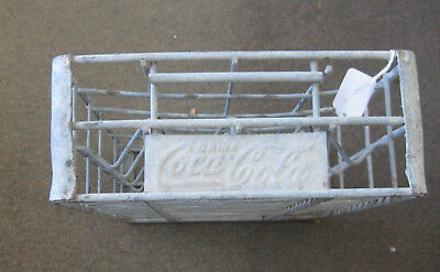 Vintage COCA-COLA Metal CRATE Carrier for COKE BOTTLES