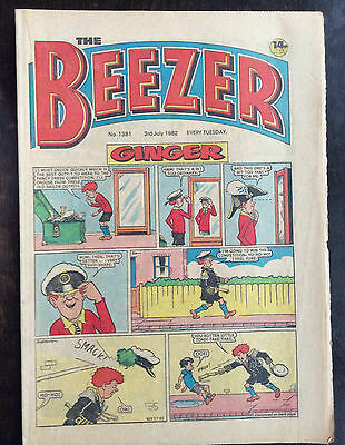 Beezer Comic. No. 1381.  3 July 1982. Fn+.