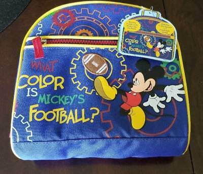 Disney Mickey Mouse Zippered Lunch Tote Bag New