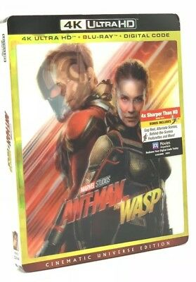Ant-Man and the Wasp (4K UHD+Blu-Ray+Digital, 2018) NEW w/ Lenticular Slipcover