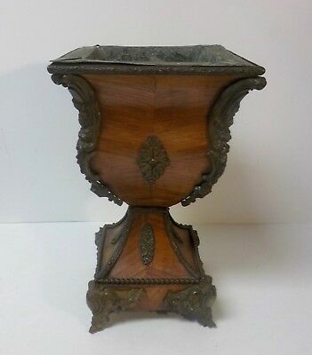 19th C. Napoleon III French Pedestal Jardiniere / Planter, Bronze Mounts