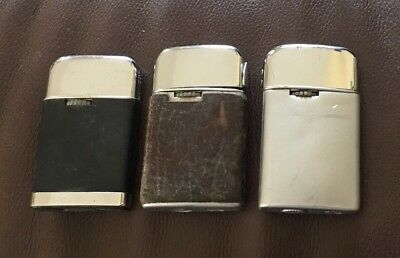 Vintage Lot 3 Ronson Varaflame Butane Lighters Lighter