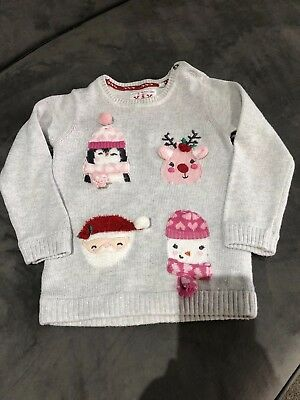 Mothercare Baby Christmas Character Jumper Size 12-18 Months