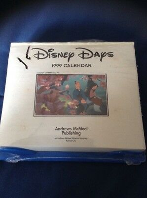 Disney Days Calendar 1999 Calendar, Desk New Sealed Vintage