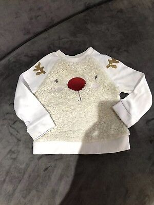 Mothercare Baby Christmas Reindeer Jumper Size 12-18 Months