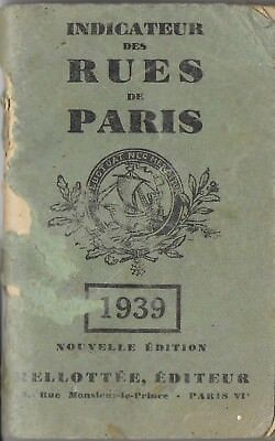 Indicateur des rues de Paris 1939