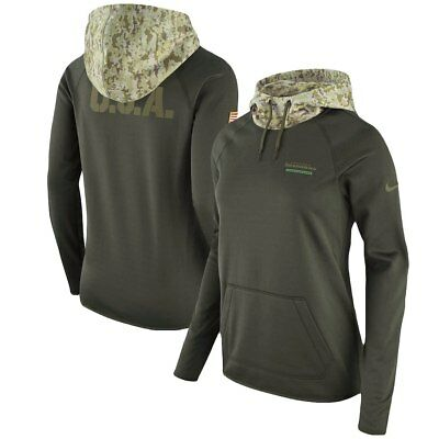 Nike NFL Salute to Service Seattle Seahawks Women Sideline Therma Hoodie Large L