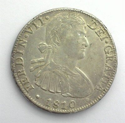 Mexico 1810-Mohj Silver 8 Reales Choice Almost Uncirculated