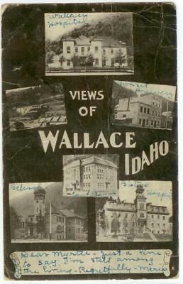 1906 Wallace Idaho multiview including the Sunset Brewery