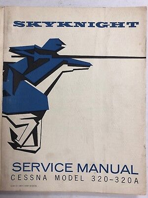 CESSNA 320/320A SKYKINIGHT Service Manual 1962 Original