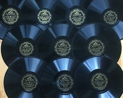 """Lot of 10x Pre-War VICTOR ELECTRICAL~Personality~Popular Vocal~10"""" 78s~CLEAN! #5"""