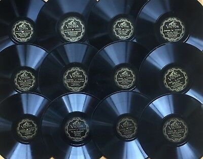 """Lot of 12x Pre-War VICTOR ELECTRICAL~Personality~Popular Vocal~10"""" 78s~CLEAN! #1"""