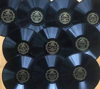 """Lot of 10x Pre-War VICTOR ELECTRICAL~Personality~Popular Vocal~10"""" 78s~CLEAN! #2"""